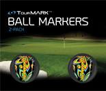 Black shagadelic pattern ball markers for TourMARK oversized putter grips