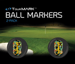 Black shagadelic pattern ball markers for TourMARK standard size putter grips