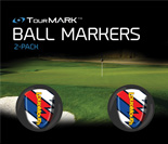 Captain Thunderbolt USA ball markers for TourMARK oversized putter grips