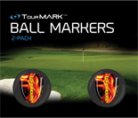 Liar Liar pattern ball markers for TourMARK oversized putter grips