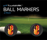 Liar liar pattern ball markers for TourMARK standard size putter grips