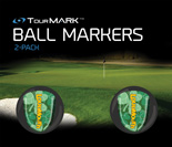 Lucky pattern ball markers for TourMARK oversized putter grips