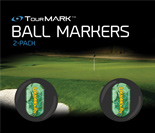 Lucky pattern ball markers for TourMARK standard size putter grips