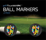 Magic Bus pattern ball markers for TourMARK oversized putter grips
