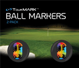 PaintBallz pattern ball markers for TourMARK standard size putter grips