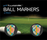 Peachy pattern ball markers for TourMARK oversized size putter grips