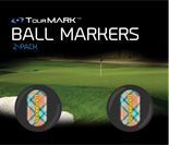 Peachy pattern ball markers for TourMARK standard size putter grips