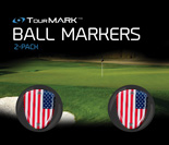USA pattern ball markers for TourMARK oversized putter grips