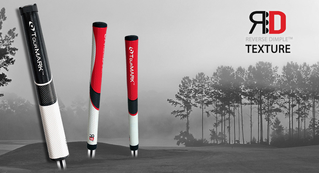 All new TourMARK™ Reverse Dimple™ putter grips